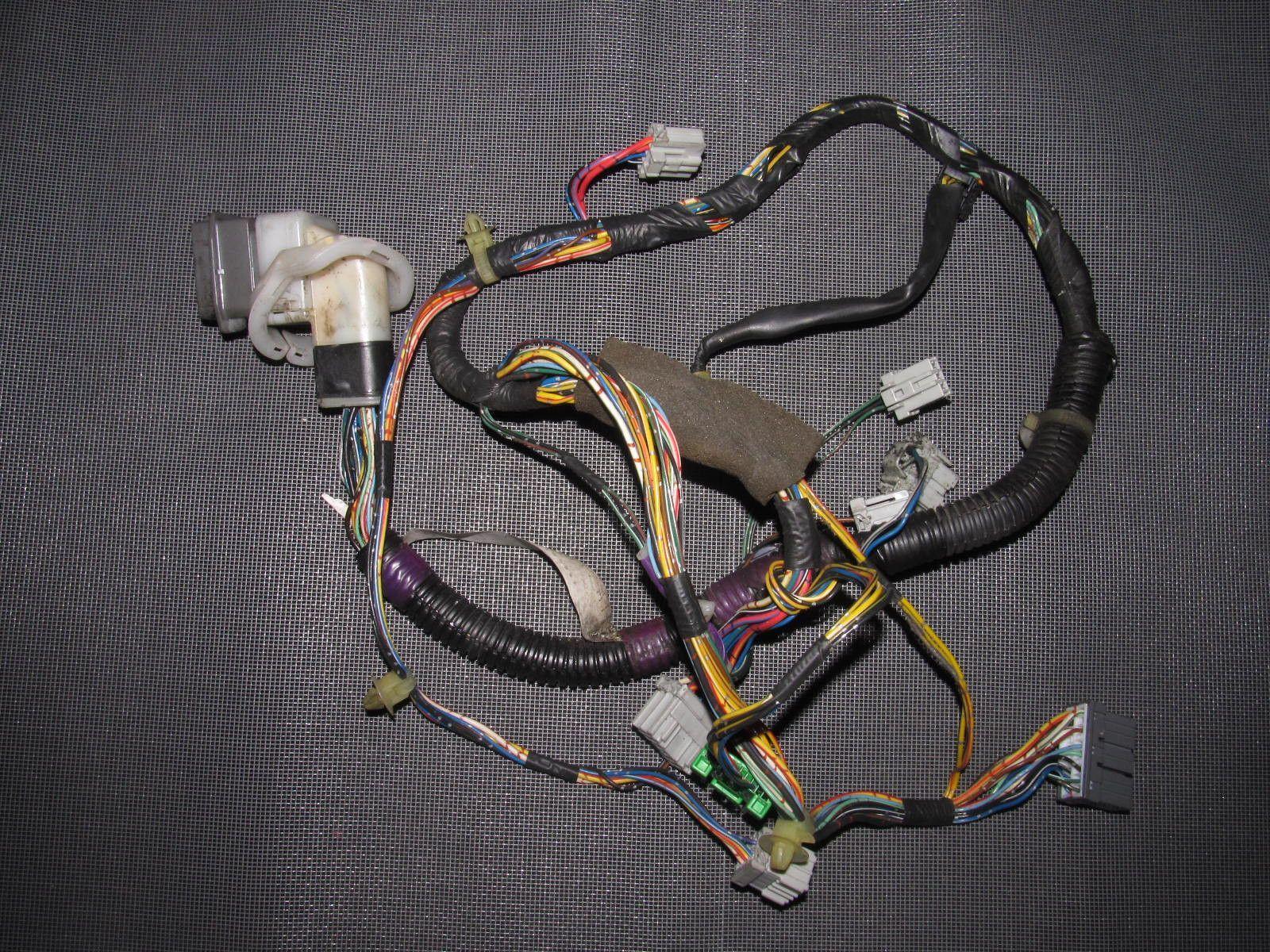 94 01 acura integra oem coupe door wiring harness driver s side left [ 1600 x 1200 Pixel ]