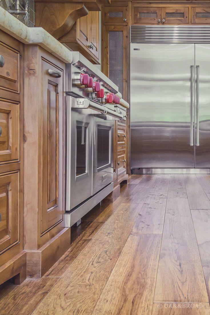 Custom Hand Scraped Hickory Floor In Cupertino Oak Broad