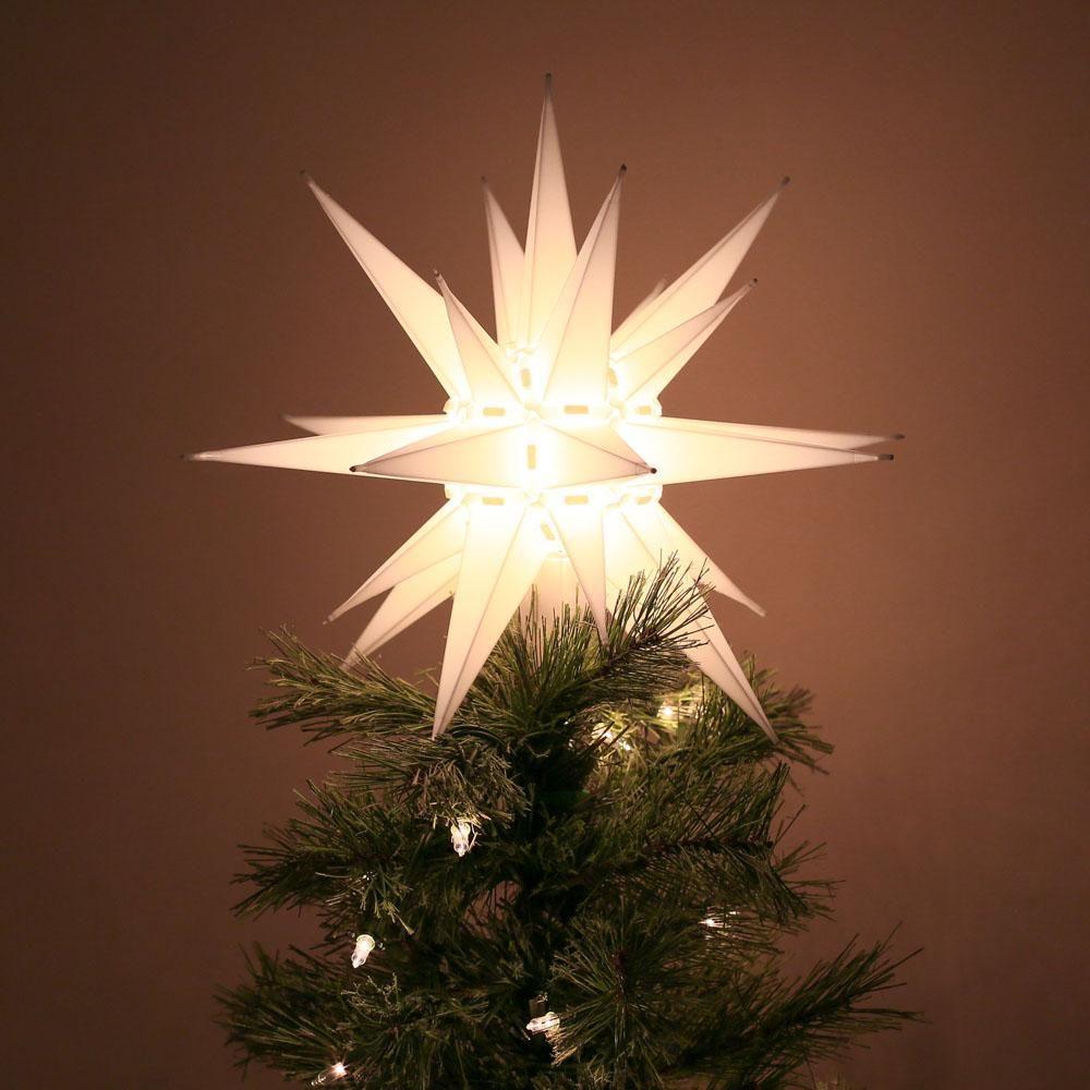 Moravian Star Tree Topper -   18 christmas tree topper diy star ideas