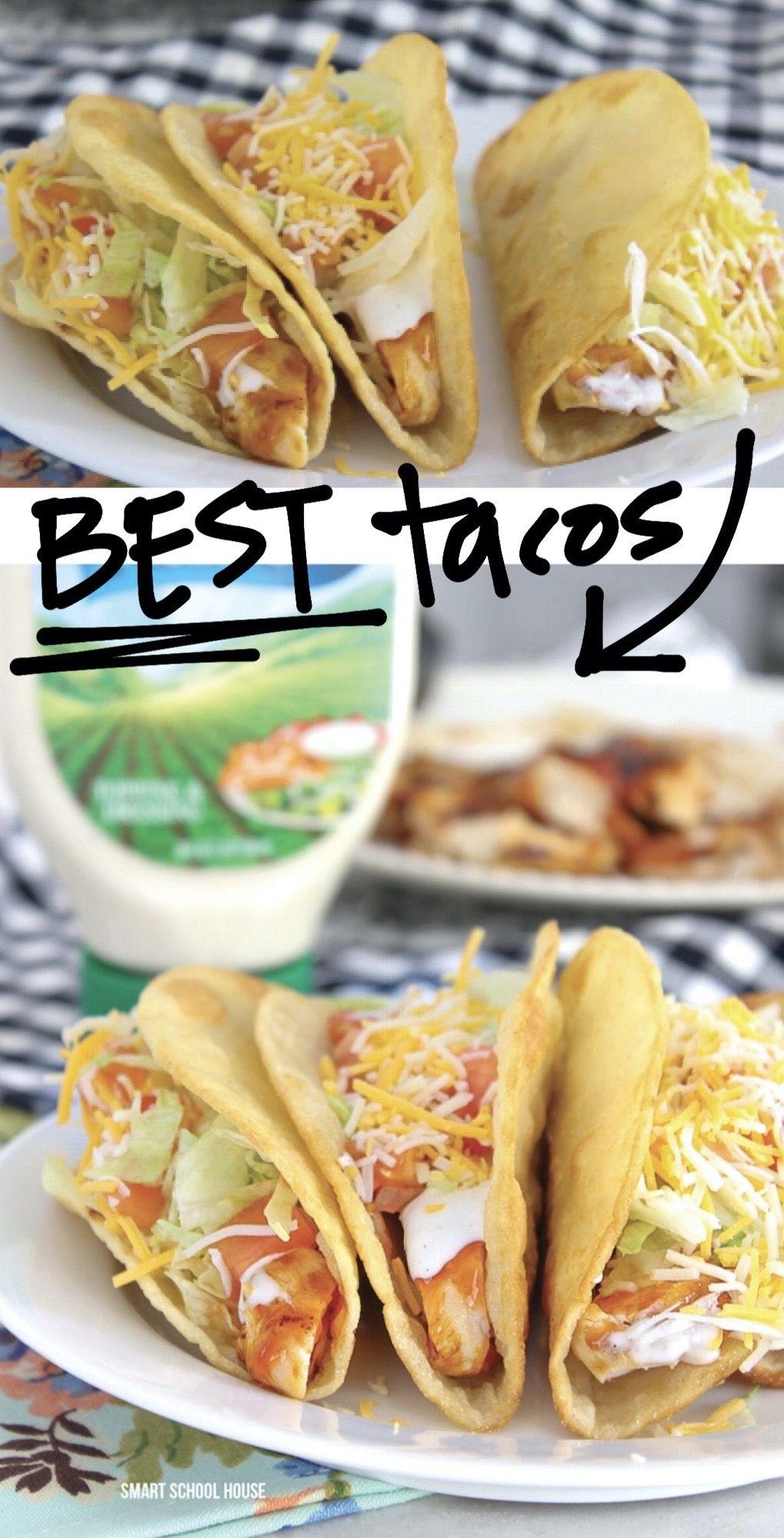 EASY Ranch Chicken Tacos #easychickentacos