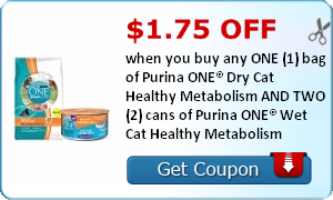 Cat Food Coupons Purina Healthy Metabolism Fancy Feast Dry