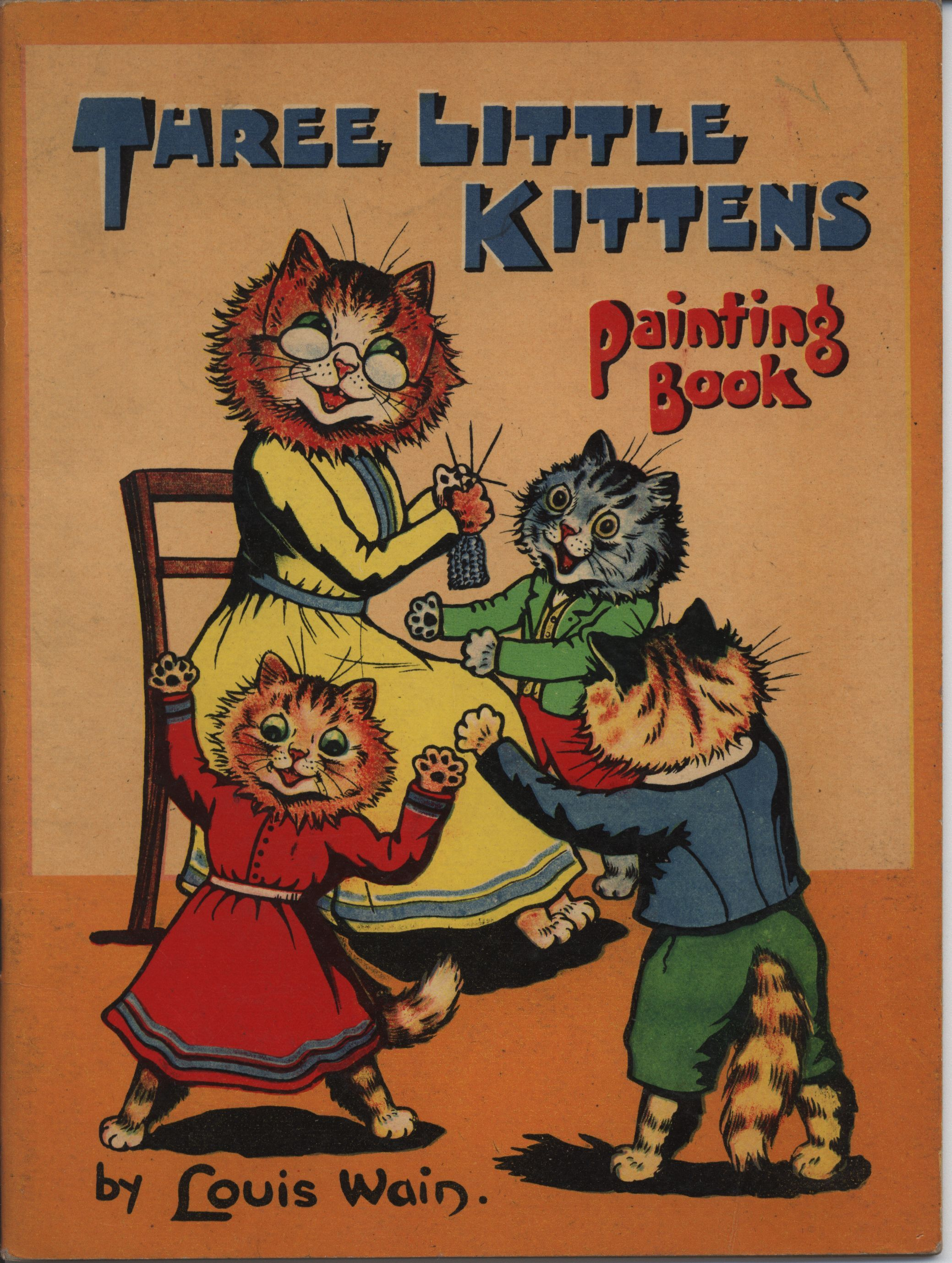 Louis Wain Three Little Kittens Painting Book Painted Books