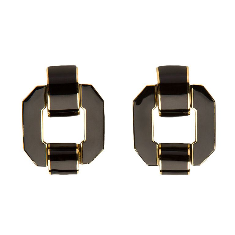 David Webb Enamel Earrings | From a unique collection of vintage clip-on earrings at http://www.1stdibs.com/jewelry/earrings/clip-on-earrings/ 7.4k USD