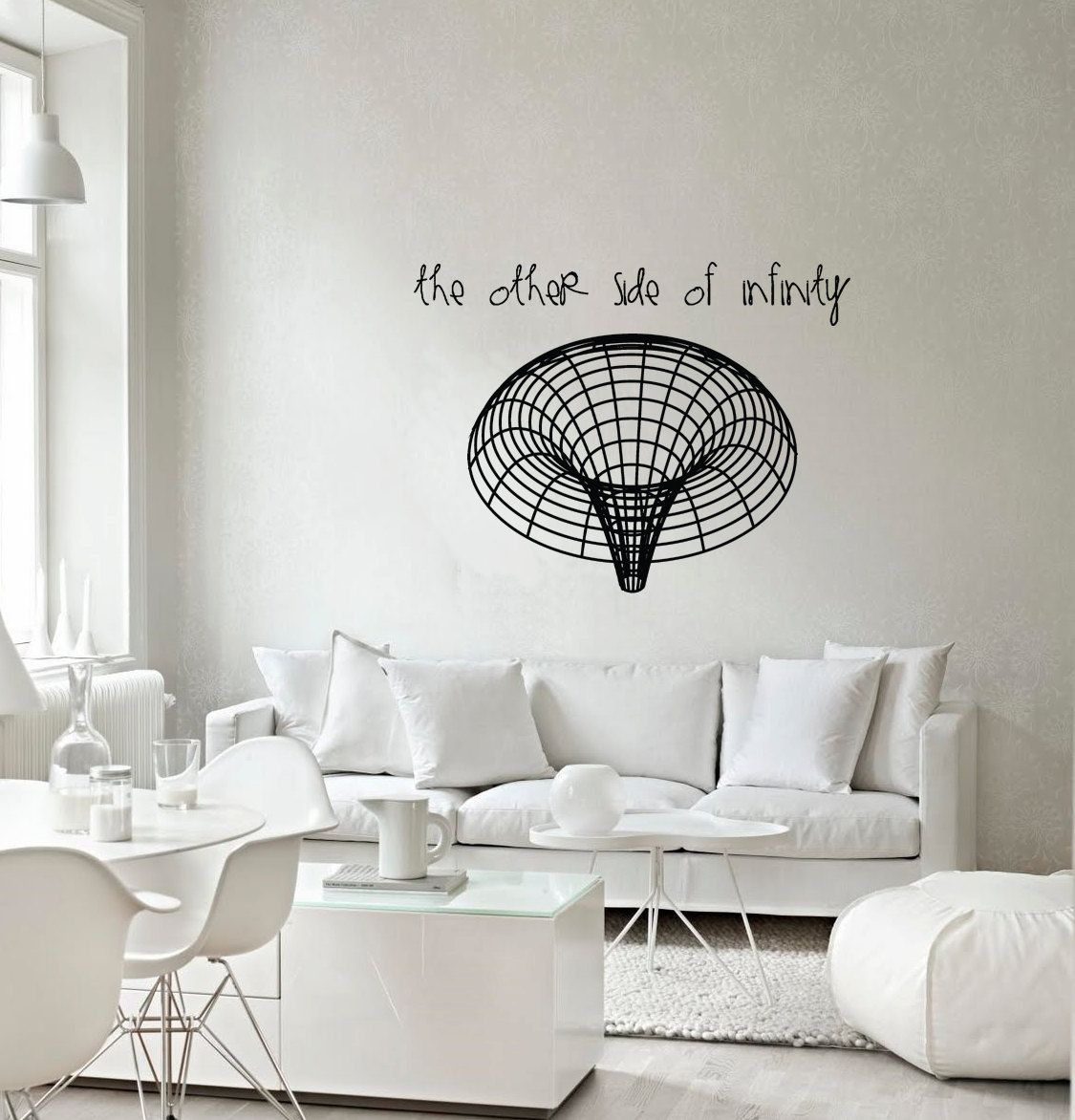 science art astronomy - black hole vinyl wall decal for your lab