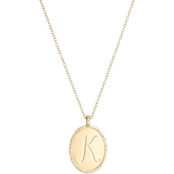 Jamie wolf 18k yellow gold oval initial pendant necklace with jamie wolf 18k yellow gold oval initial pendant necklace with diamonds 3890 liked mozeypictures Gallery