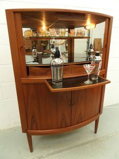 Danish Mid Century Retro Vintage 50s 60s Cocktail Drinks Cabinet