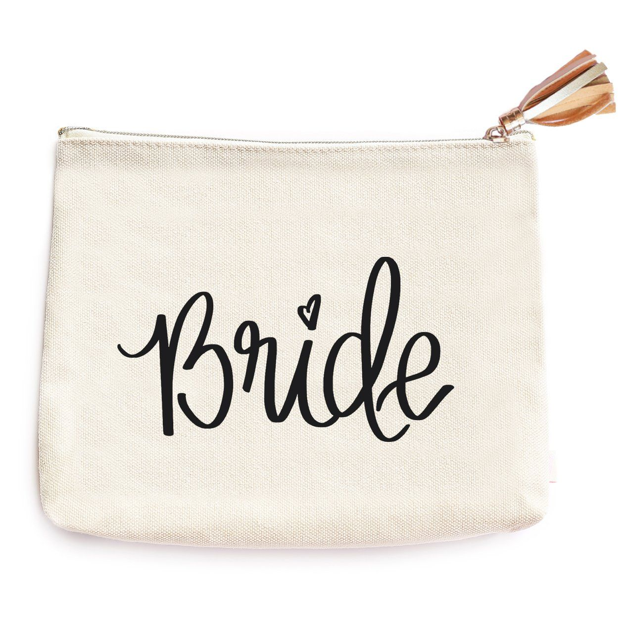 Bride Makeup Bag Wedding Gift For To Be Bridal Shower Cotton Canvas Best Friend