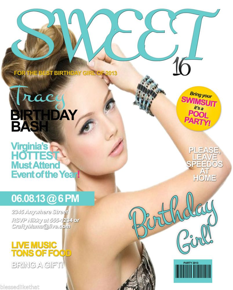 The Games Factory 2 | Sweet 16, Magazine covers and Party invitations