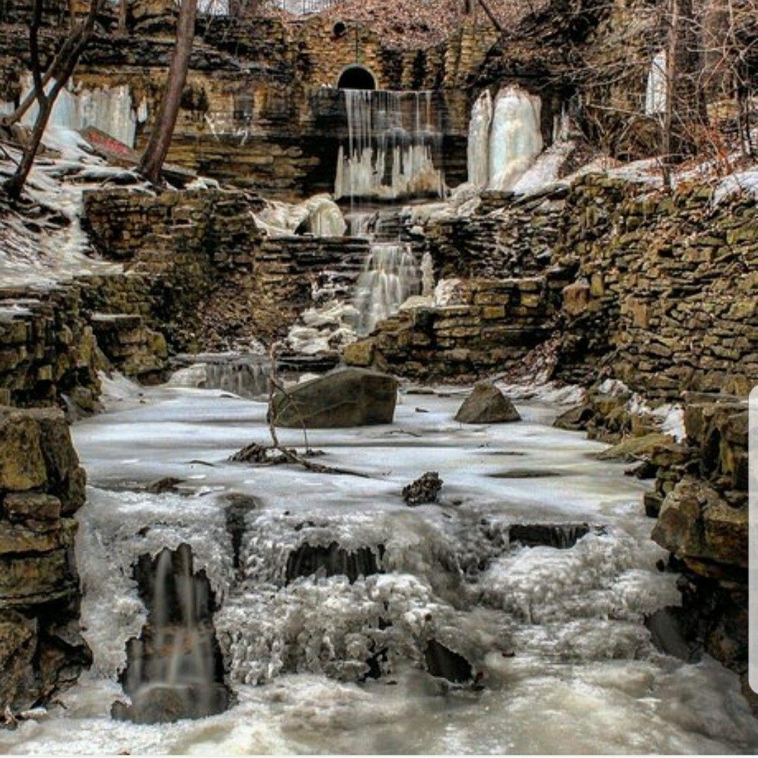 Hidden falls park saint paul mn minnesota winter