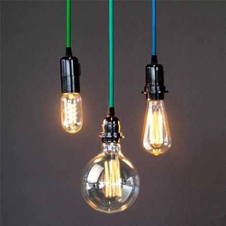 hoi pu0027loy vintage light bulbs u0026 cable pendants - Vintage Light Bulbs