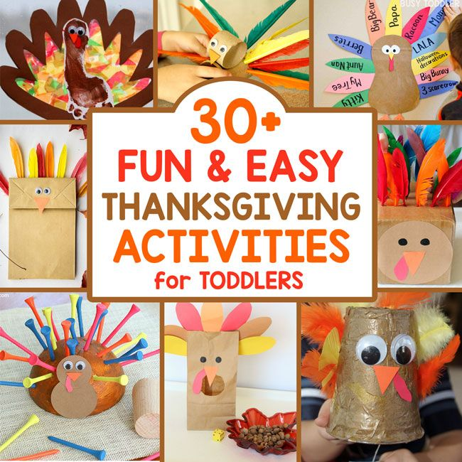 30+ Easy Thanksgiving Activities for Toddlers