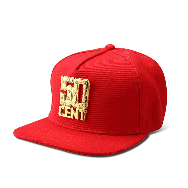 1f619b570926c NYUK Snapback Hats Wholesale Bling Iced Out Gold 50 CENT Baseball Cap Hat  Hip Hop Men Women Casual Straight Flap Brim Bone Caps