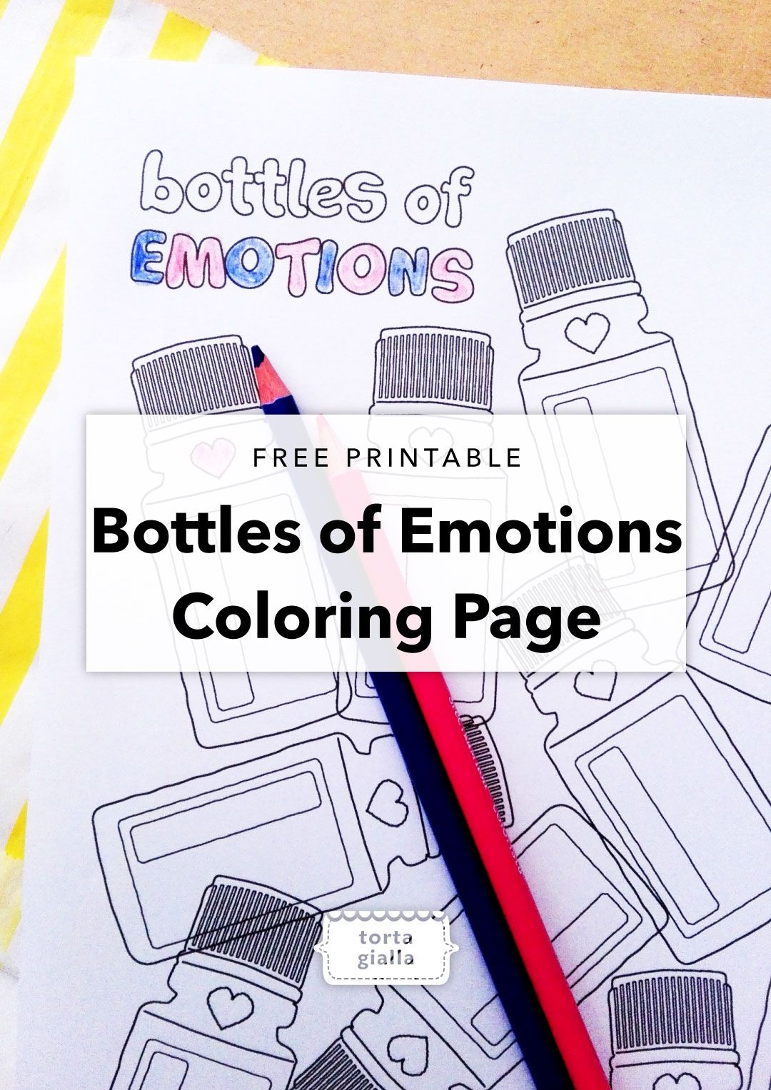 bottles of emotions coloring page printable pinterest free