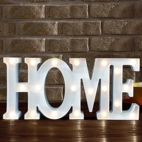 Bright Zeal Decorative Led Marquee Sign Home 16 X 75 X 2 Battery Timer Included Warm White Led Light Up Let With Images Light Letters Letter Wall Decor Light Up Letters