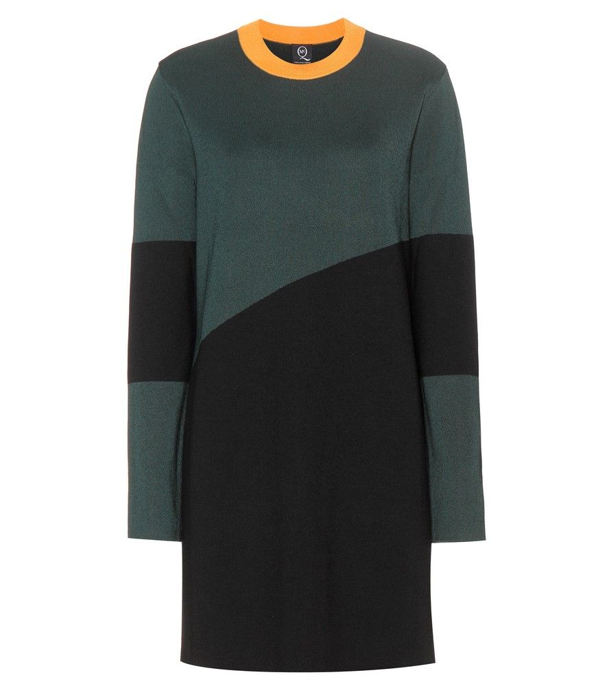 McQ Alexander McQueen - Sweater dress - McQ Alexander McQueen's sweater dress is quite simple but oh-so striking. The panelled design combines stark black with a rich dark green, plus a pop of vibrant orange to the collar. Try it with sneakers for a streetwise edge to your look. seen @ www.mytheresa.com