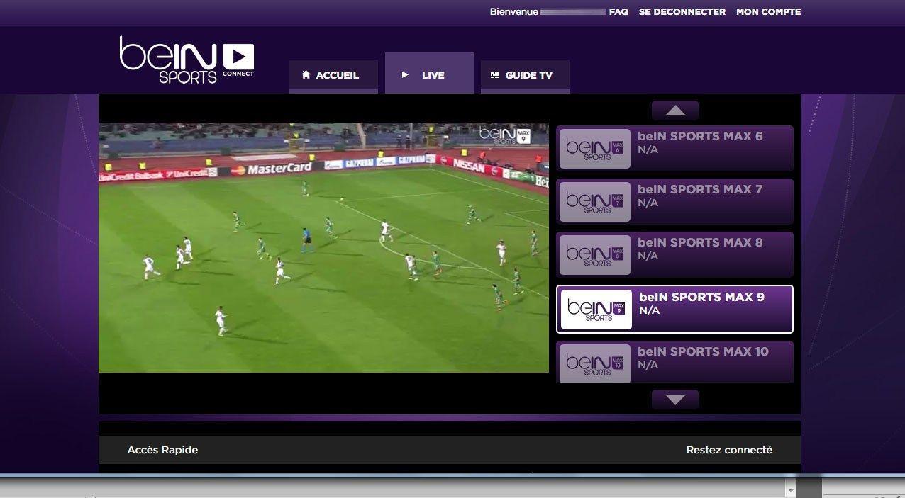 Bien sport connect, le service de TV direct et replay