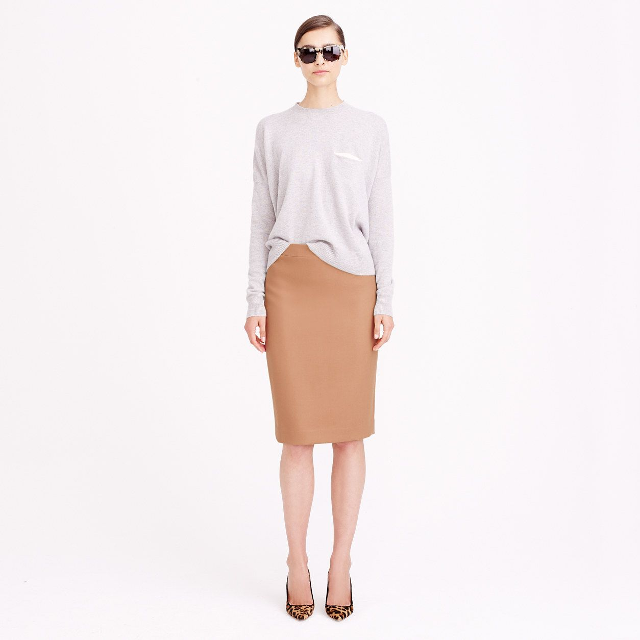 No. 2 pencil skirt in double-serge wool   skirts  440953123