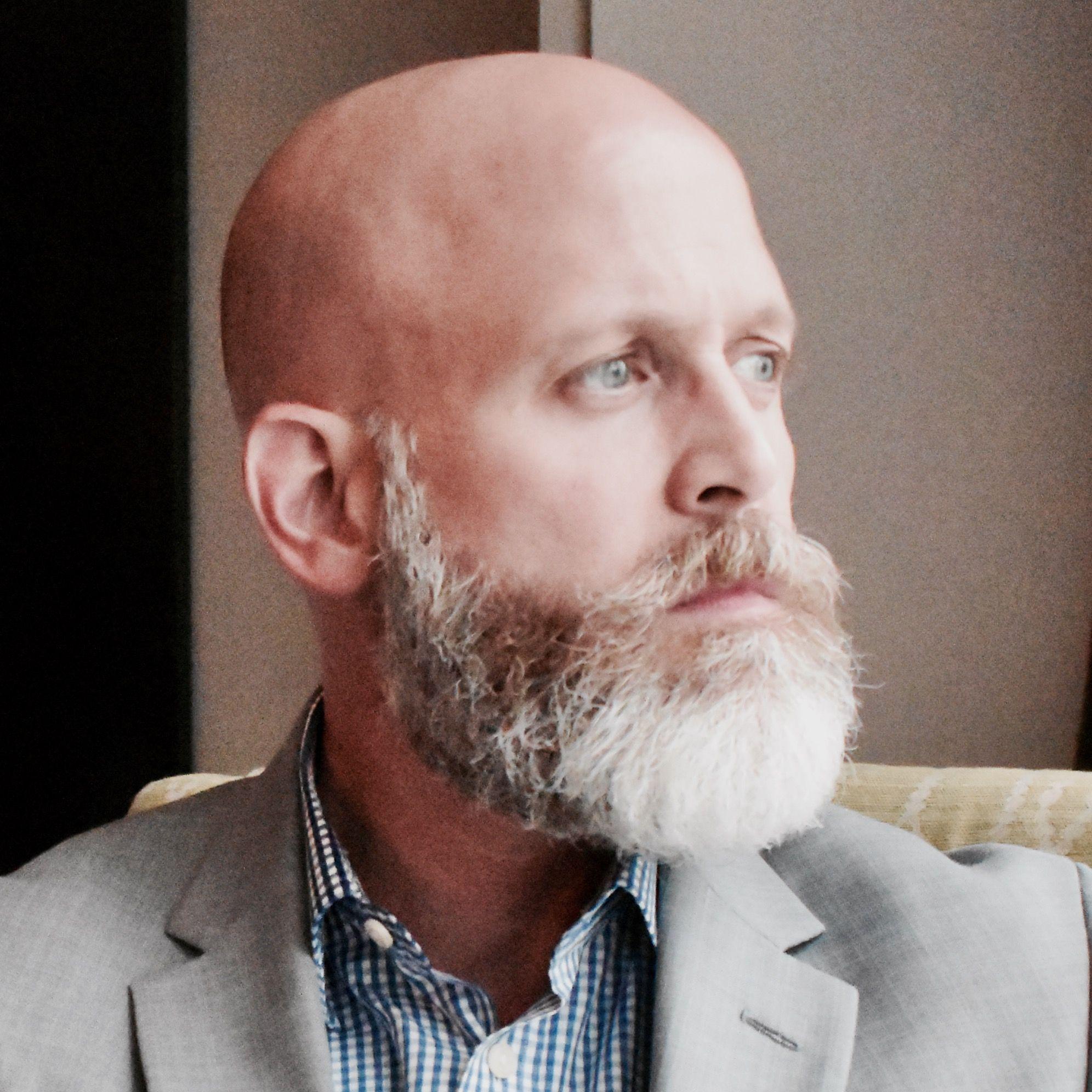 Bald And Grey Beard Grey Beards Bald With Beard Beard Styles Bald