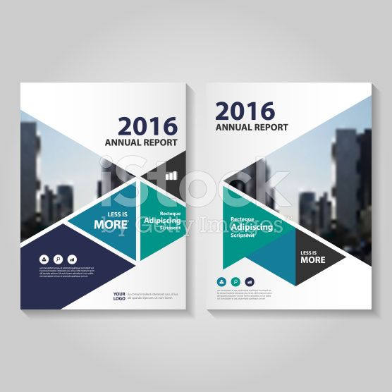 Triangle green blue purple Vector annual report Leaflet Brochure - free annual report templates
