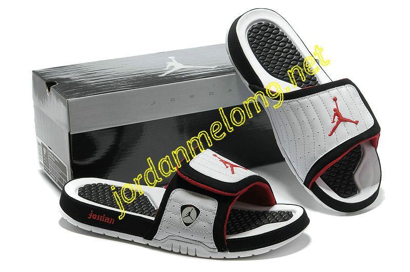 a808f9d19ef Jordan Hydro 14 Premier Slides Sandals Submit White Black Red ...