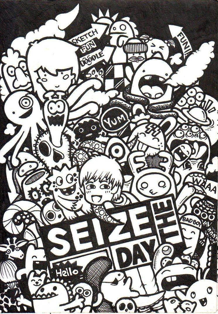 Doodle  Seize The Day by aivvia on DeviantArt  mics