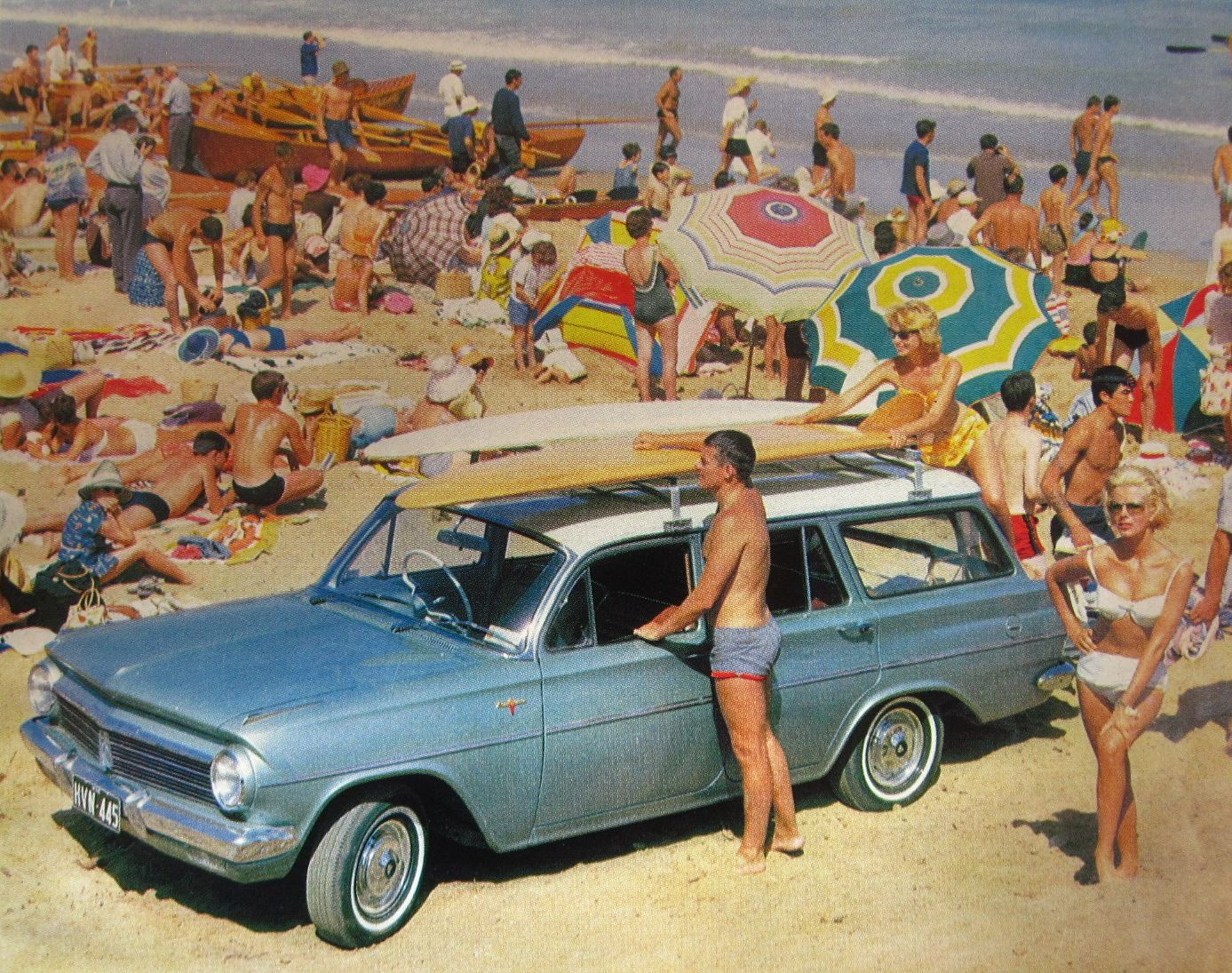 Eh Holden 1963 Station Wagon Surfing Tin Sign