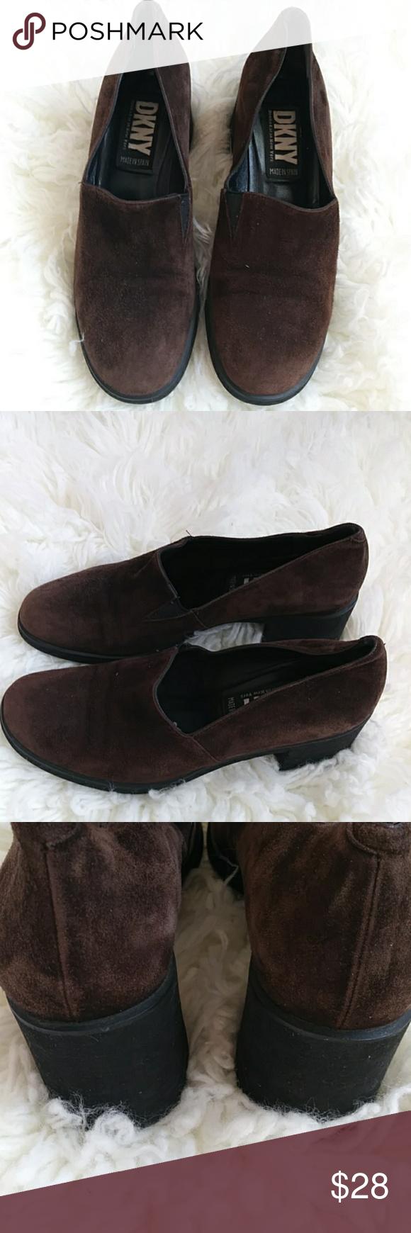 DKNY suede shoes Dark brown suede