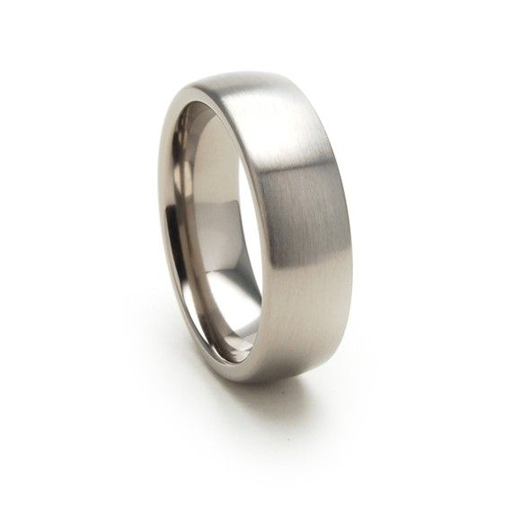 9mm Titanium Ring Modern Ring 4-17 Sterling Silver Inlay New Comfort Fit
