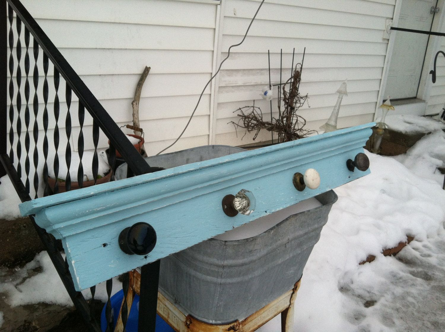Vintage Door Knob Coat Rack From Etsty I Have This In My Bathroom As A Towel