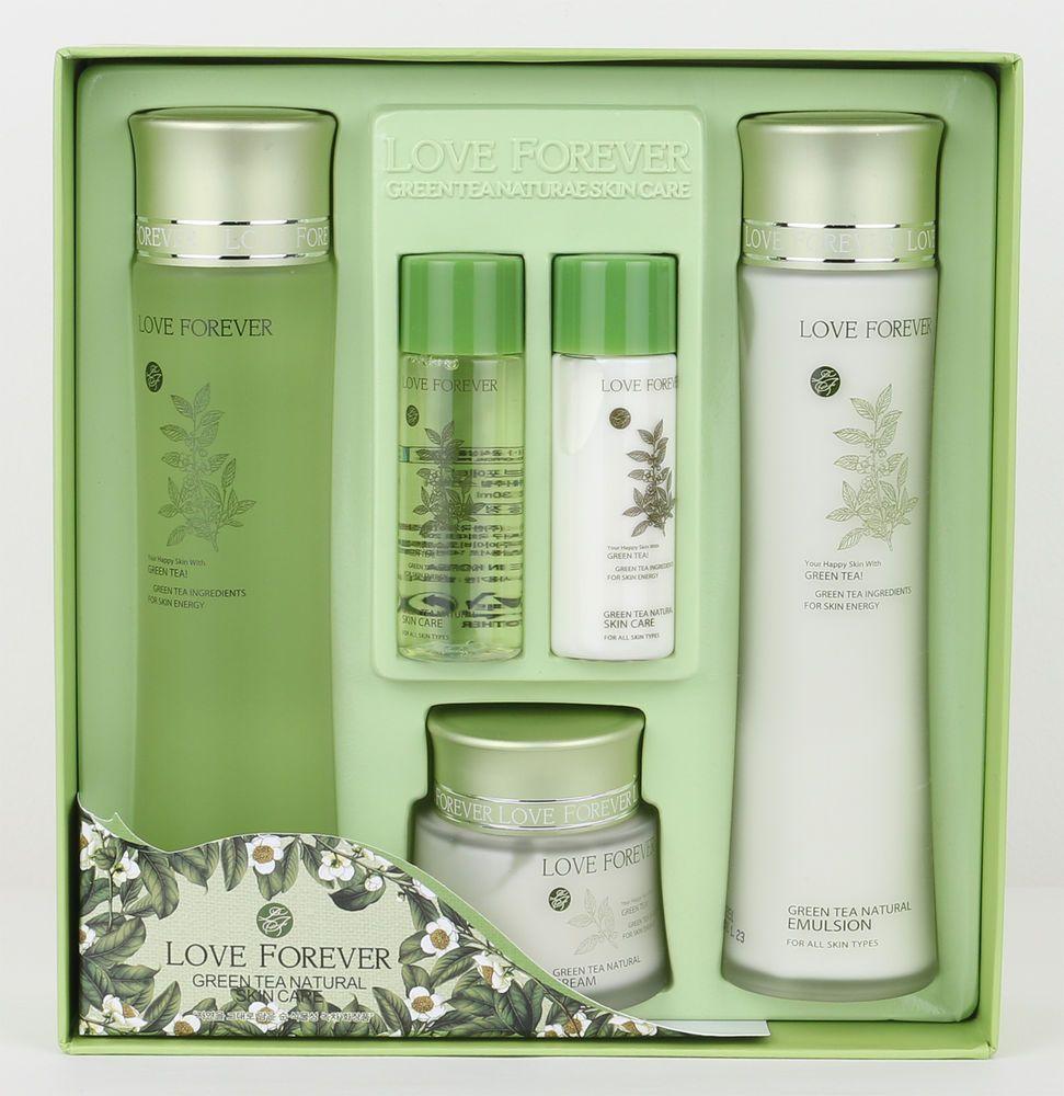 LOVE FOREVER Green tea natural skin care set korean beauty