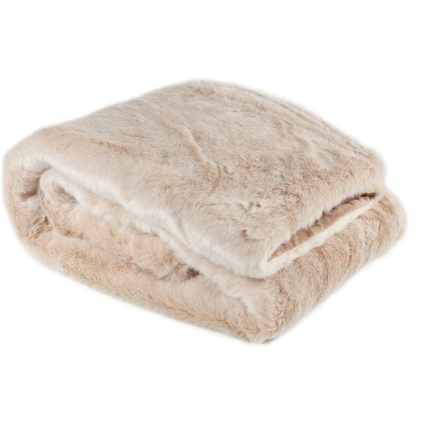 Zara Home Plain Fur Throw ($109) ❤ liked on Polyvore featuring home, bed & bath, bedding, blankets, interior, dream home, other, beige, fur bedding and plain bedding