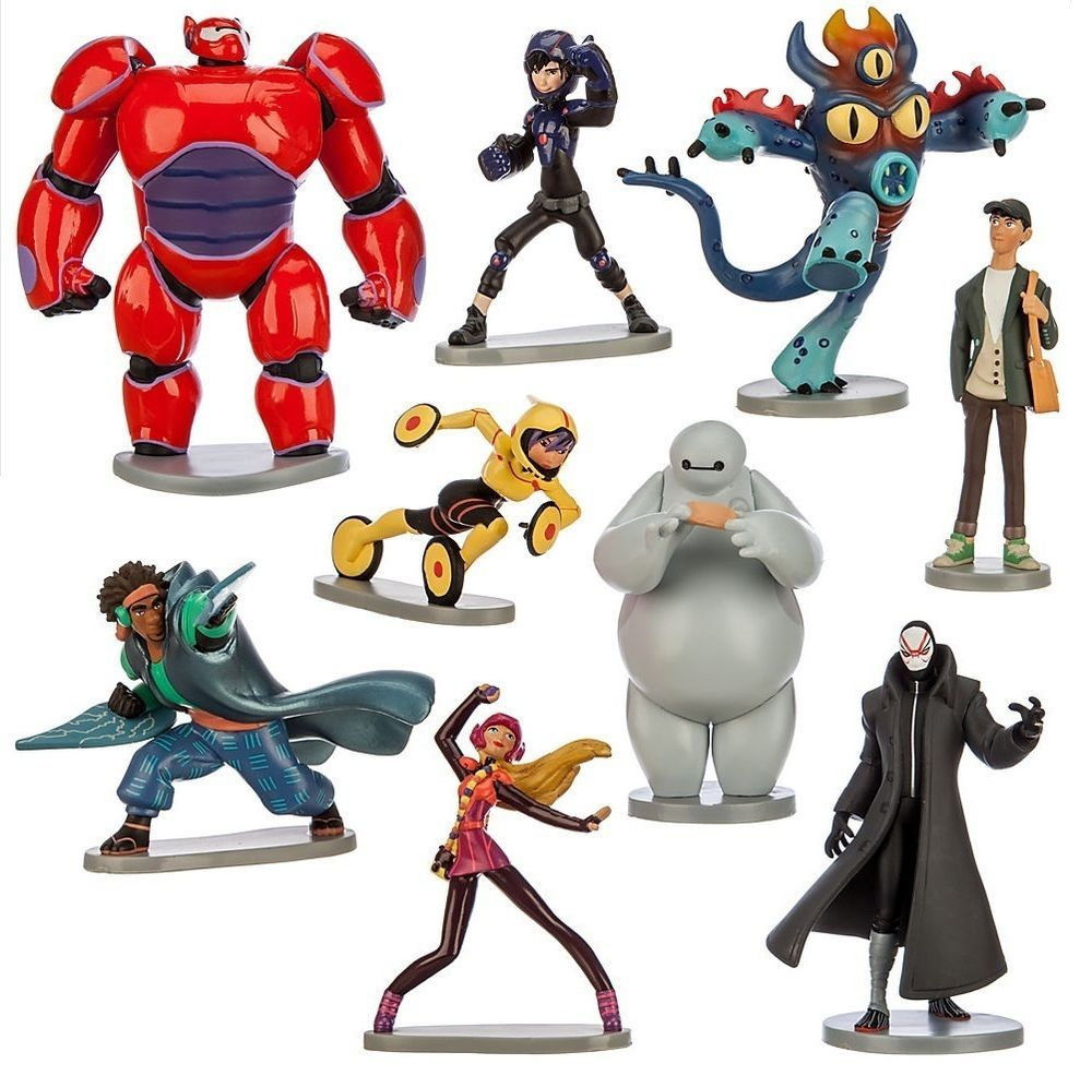 Big Hero 6 Baymax Hiro Playset 9 Figure Cake Topper Usa Seller Toy Doll Set Big Hero 6 Baymax Big Hero 6 Big Hero