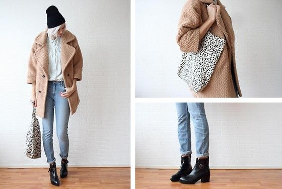 Get this look: http://lb.nu/look/4572087  More looks by Sietske L: http://lb.nu/sietske  Items in this look:  Ctf Beanie, Choies Coat, Primark Bag, Oasap Boots