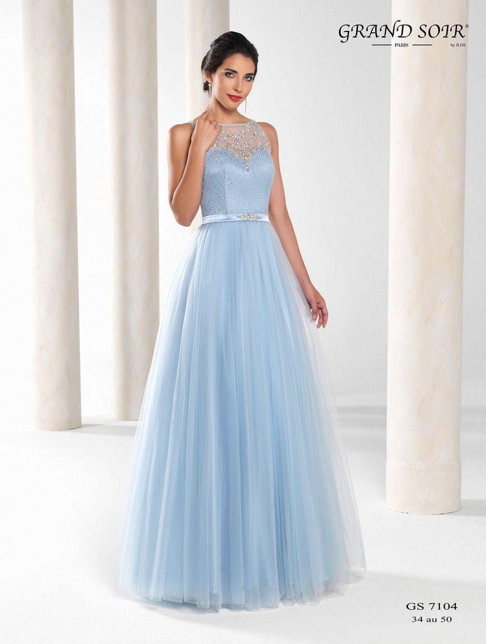 10 Langes Kleid Hellblau in 10  Glamouröse abendkleider