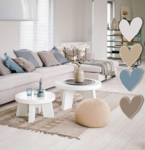 Poederige kleuren voor een heerlijk lounge effect de onderste kleur hartje is misschien wel de - Lounge warme kleur ...