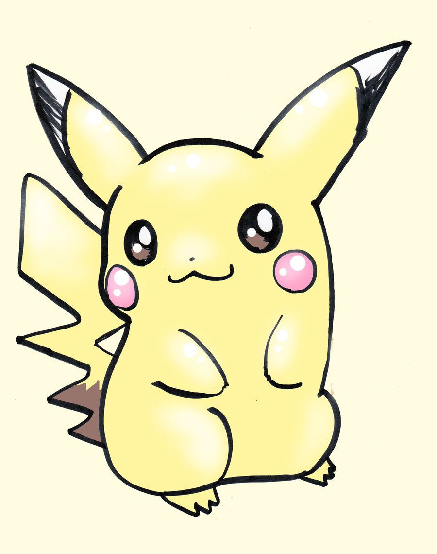 Pokemon characters draw pikachu easy another very popular face going up right now is on the mascot for pokemon description from newgirlwallpaper com