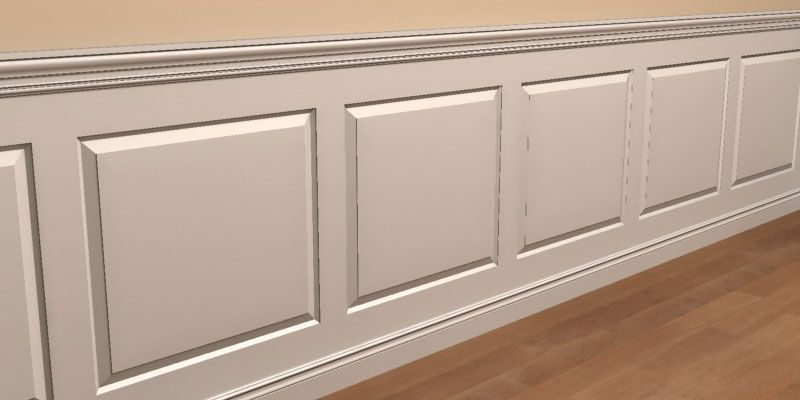 All Of Our Paneled Wainscoting Is Custom Shop Fabricated To Order
