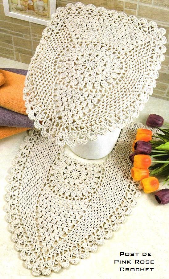 Voici des mod les pour faire des tapis de salle de bain au - Modele tapis crochet gratuit ...