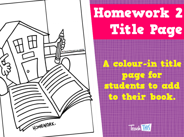 Homework 2 Title Page Title Page Homework Teacher Resources