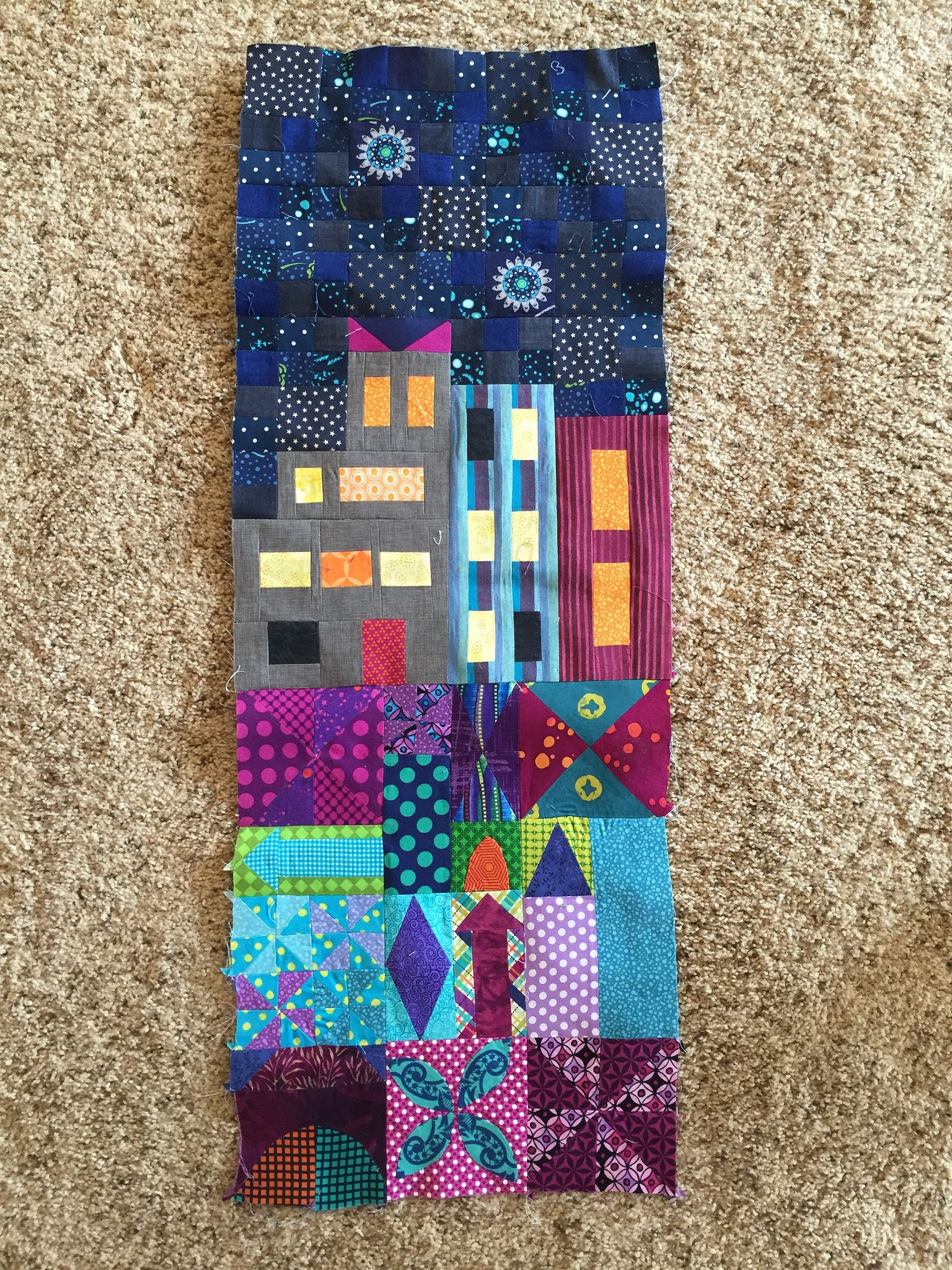 My Small World Quilt by Jen Kingwell | Mini quilts, House quilts ... : quilts by jen - Adamdwight.com
