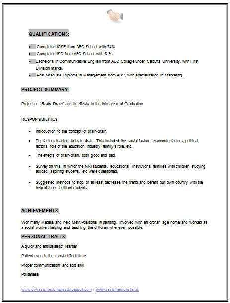 Mba Marketing Resume Sample Doc   Career