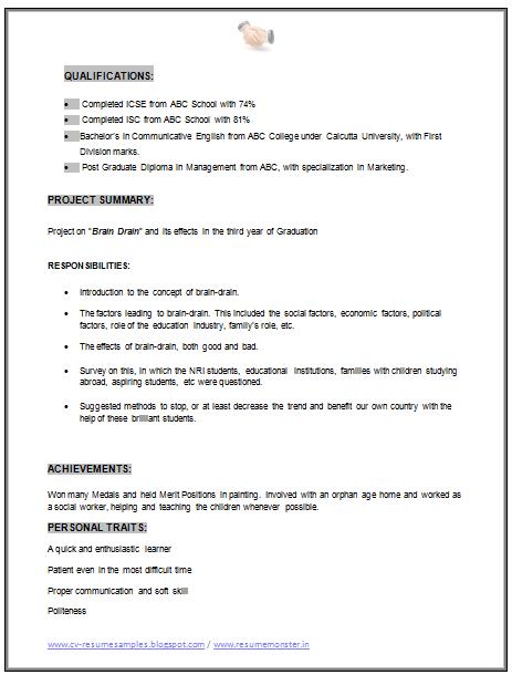 MBA Marketing Resume Sample Doc (2)