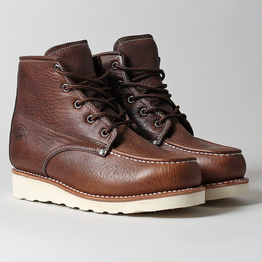 Illinois Herren Sneaker Dark Brown Leder Schuhe Neu Dickies