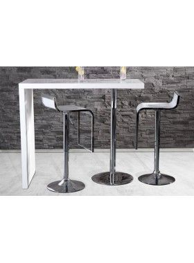 DUO   Design Bar Table White High Gloss Kitchen Breakfast Bar    Www.neofurn.co.uk