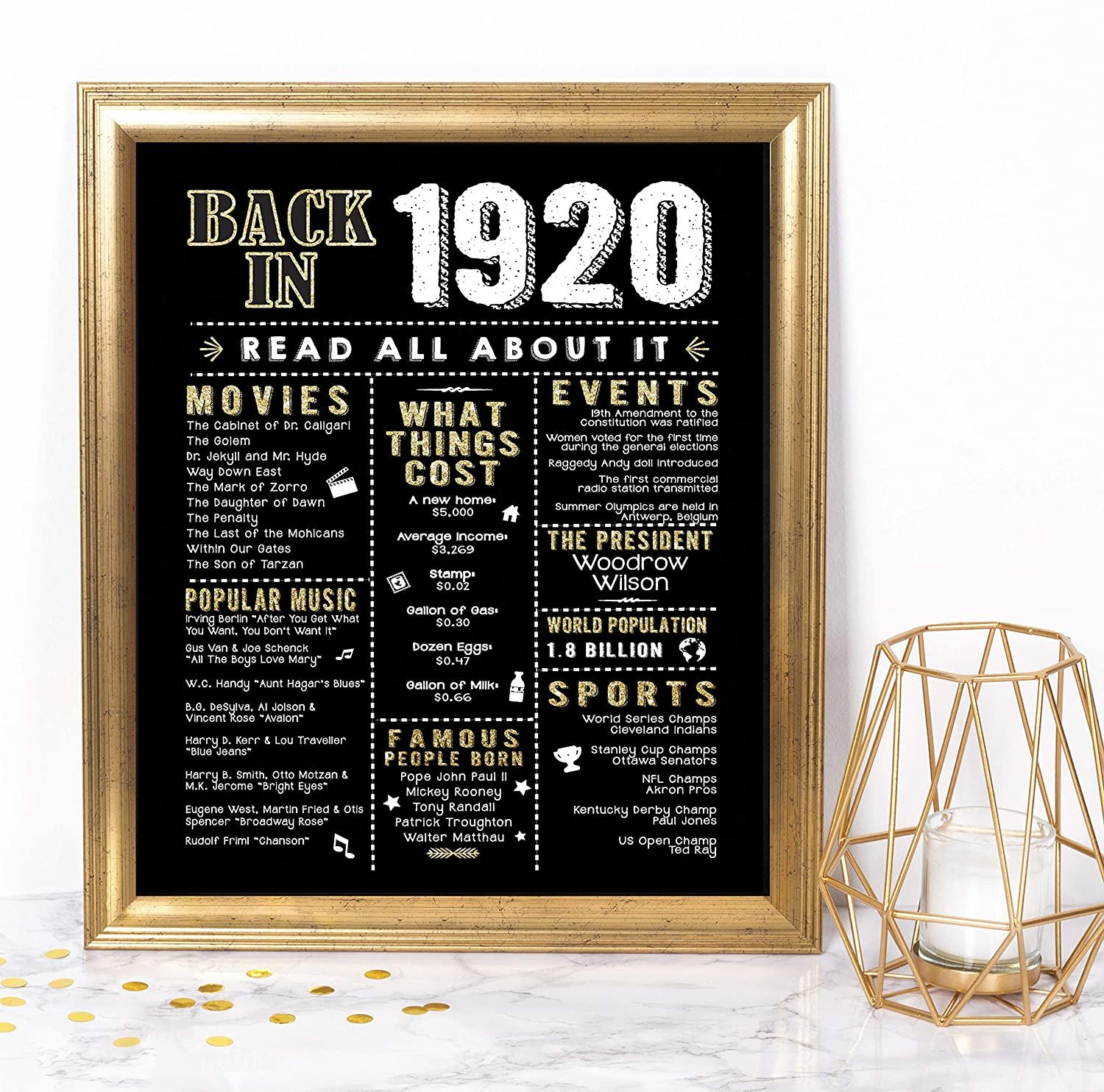 100th Birthday Party Decorations Supplies Anniversary Card