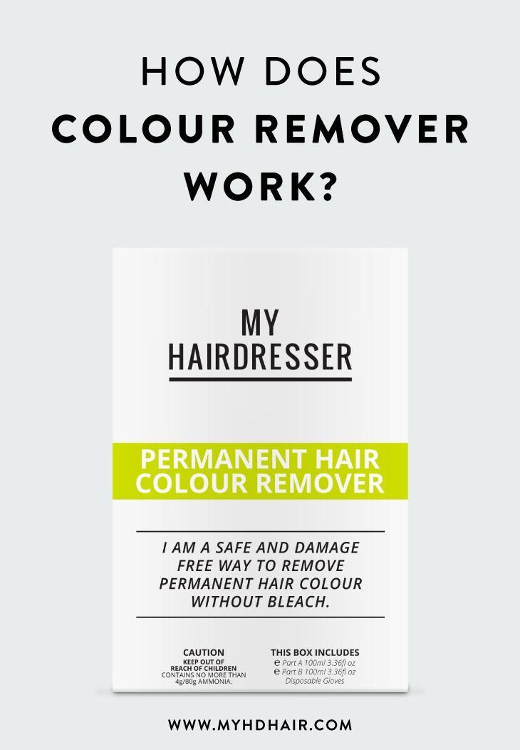 How Does Colour Remover Work How Does It Remove Hair Colour From