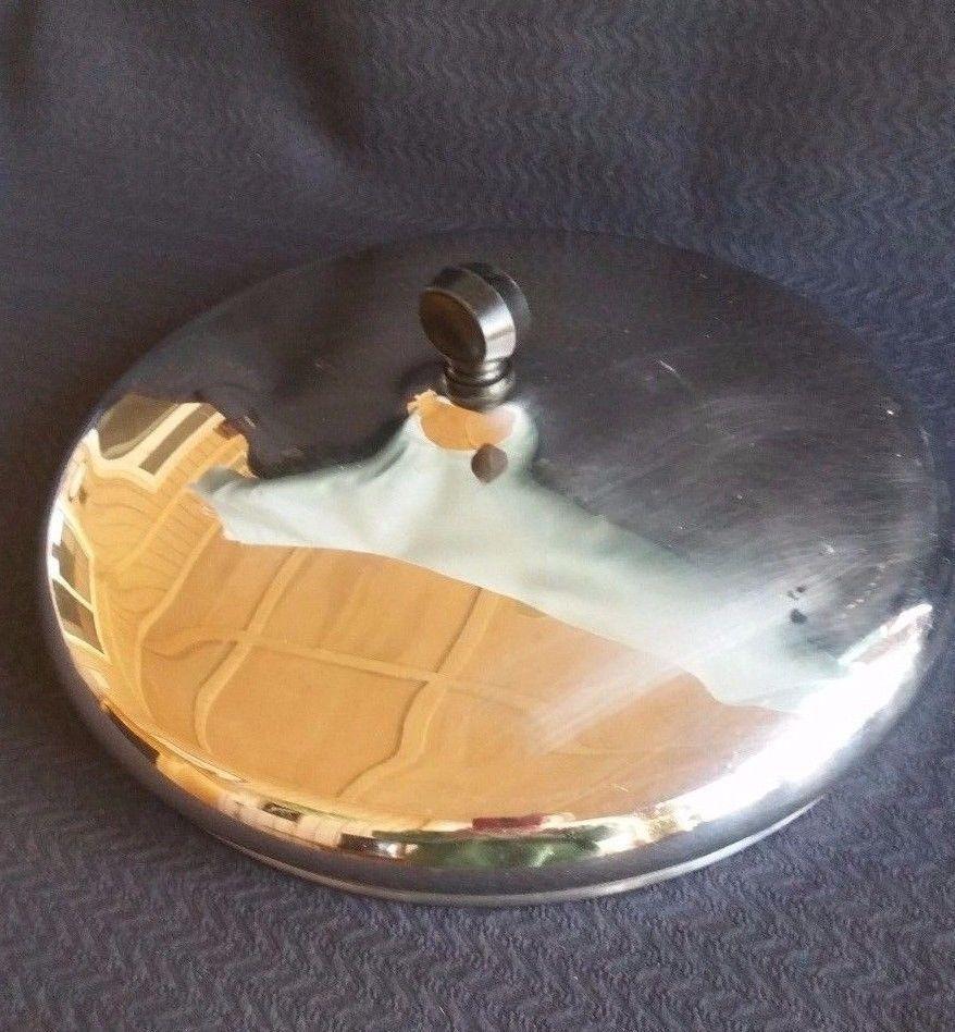 "Farberware 10"" Lid cover for Skillet Frying Pan 5qt pot Stainless Steel  USA #Farberware"