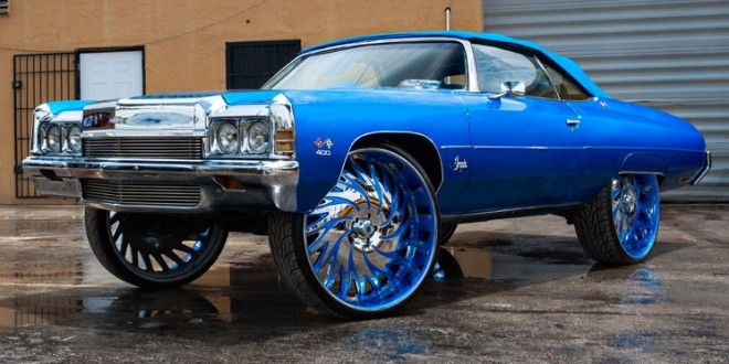Chevy Donk Squatting Hard On 32s Big Rims Custom Wheels Fast