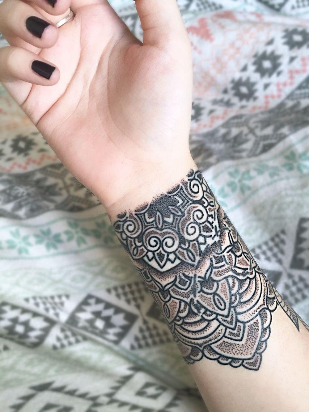 Mandala tattoo on pinterest lotus mandala tattoo lotus mandala - Mandala Wrist Tattoo Artist Matt Stopps At One By One Tattoo Studio In Soho