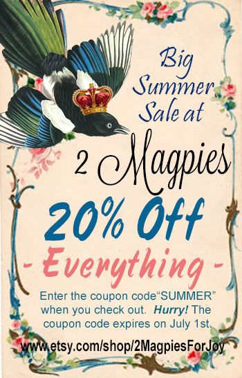 Summer Sale - 20% off handmade soaps, cards and gifts!  Now until July 1. www.etsy.com/shop/2mapiesforjoy